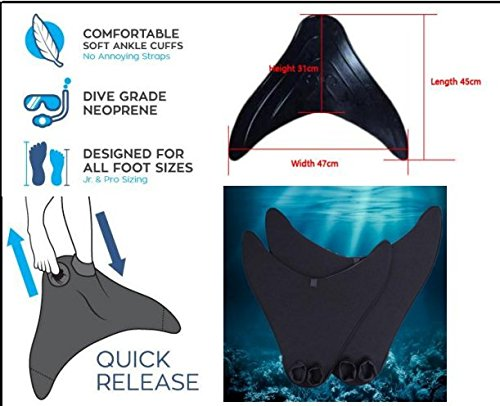 Amazon.com : Mermaid / Merman Tail For Pool Or Beach, With Monofin Included - Green Scale - 110 : Sports & Outdoors