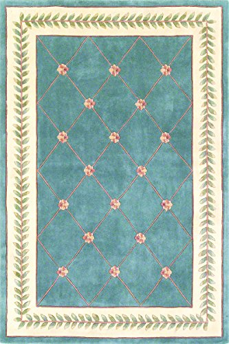 KAS Oriental Rugs Ruby Collection Trellis Area Rug, 3'3