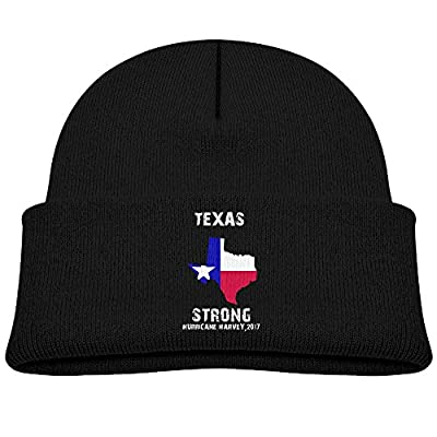 Hurricane Harvey 2017 Texas Strong Texan Survivor Unisex Kids Beanie Caps Black