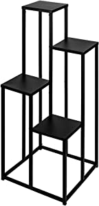 Koyal Wholesale Metal Stand for Wedding Centerpiece, Ceremony Aisle Decor, Home Decor (Black, Set of 4)