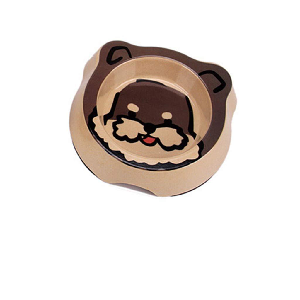 CQ Pet Cat Bowl Dog Bowl Cat Supplies Cat Food Bowl Dog Food Bowl Bamboo Fiber Non-Slip Resistant Bite Rice Bowl