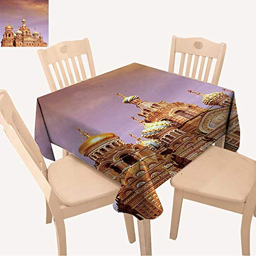 UHOO2018 Square/Rectangle Tablecloth Waterproof Polyester Church of The