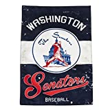 Washington Nationals EG VINTAGE Retro 2-sided GARDEN Flag Linen Banner Senators Baseball