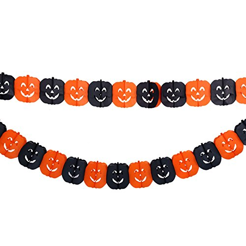 Halloween Garland Layout Props DIY Decoration Pumpkin Spider Bat Witch Ghost Skull Shape Bunting Triangle Flags Decorations Party (Diy Halloween Spider Prop)