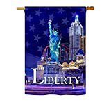 Freedom of Liberty – Americana Historic Decoration – 28″ x 40″ Impressions House Flag by Ornament Collection – US made Review