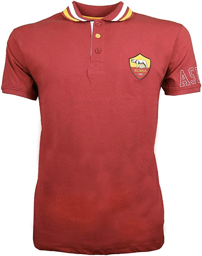AS Roma - Camiseta Deportiva - para Hombre Burdeos L: Amazon.es ...