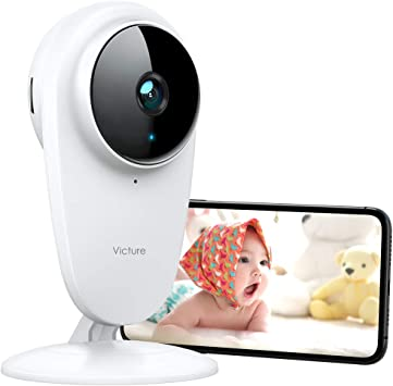 Victure 1080P Home Security Camera Wireless Indoor Surveillance Camera Smart 2.4G WiFi IP camera with 2-Way Audio Night Vision Sound Detection and Motion Tracking for Baby//Pet Monitor with iOS/&Android