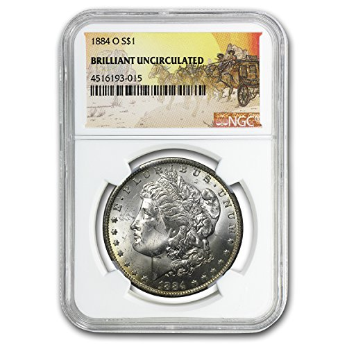 1878-1904 Stage Coach Morgan Dollar BU NGC $1 Brilliant Uncirculated NGC