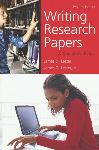 Writing Research Papers (perfect bound) (12th Edition)