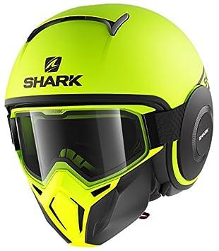 Shark casco jet Drak Street talla neón negro amarillo, talla S