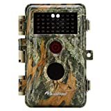 """[Upgraded] BlazeVideo 16MP 1080P Game & Trail Camera No Glow & No Flash 38pcs Invisible Infrared IR LED IP66 Waterproof Wildlife Hunting Deer Camera 65Ft Night Vision 0.6s Trigger with 2.4"""" LCD, Photo and Video Model, PIR Motion Activated Sensor, Animals Surveillance, Password Protection, Stand by Up to 6 Months"""