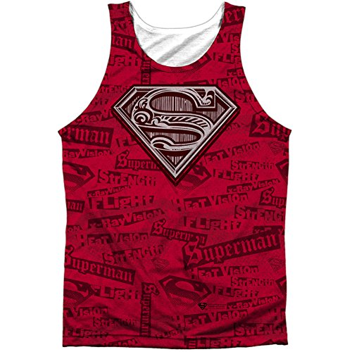 Superman+tank+tops Products : Superman Men's Super Powers Mens Tank White