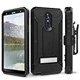 LG Stylo 4 Case, Evocel [Explorer Series Pro] Premium Full Body Case with Glass Screen Protector, Belt Clip Holster, Metal Kickstand for LG G Stylo 4 (2018), Black (EVO-LGSTYLO4-CC01)