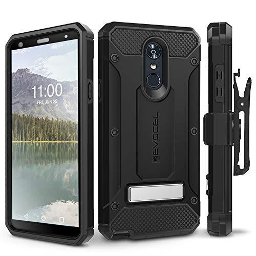 LG Stylo 4 Case, Evocel [Explorer Series Pro] Premium Full Body Case with Glass Screen Protector, Belt Clip Holster, Metal Kickstand for LG G Stylo 4 (2018), Black (EVO-LGSTYLO4-CC01) ()