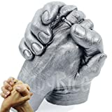 BabyRice Couples Hand Casting Kit with Pewter Metallic Paint