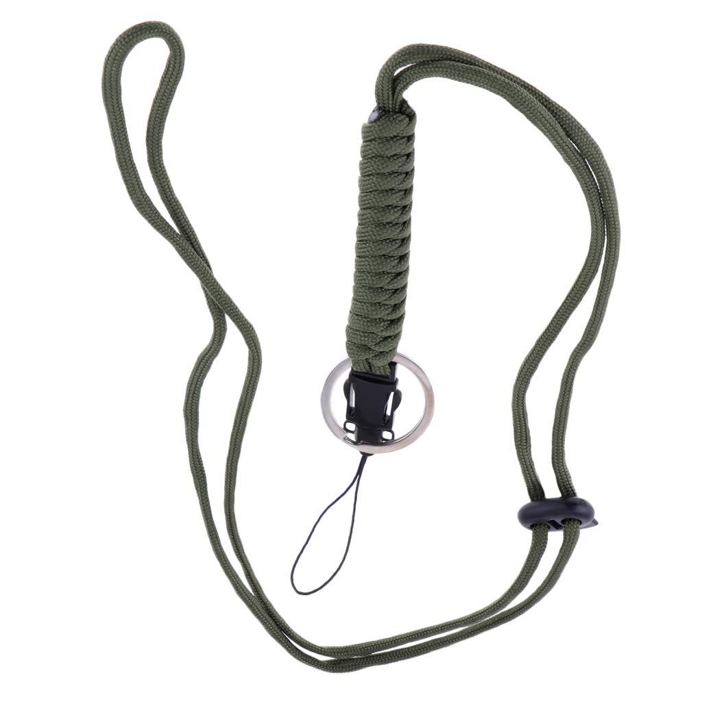Baoblaze Lani/ère Tress/ée de Survie Corde de Sifflet Paracord Longe Porte-Cl/és Usage Multiple