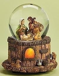 Fontanini Holy Family Stable Light Up Musical Italian Christmas Water Globe