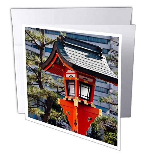 - 3dRose Danita Delimont - Japan - Red Lantern in Fushimi Inari Shrine, Kyoto, Japan - 12 Greeting Cards with envelopes (gc_312771_2)