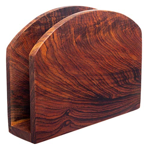 Premium Choice Wooden Napkin Holder - Kitchen and Dining Tabletop Tissue Dispenser