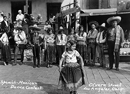 nia - Spanish-Mexican Dance Contest - Vintage Photograph (12x18 Signed Print Master Art Print w/Certificate of Authenticity - Wall Decor Travel Poster) ()