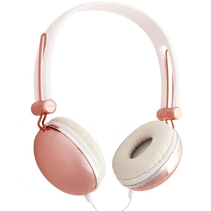4 opinioni per Cuffie stereo Rosa Dorato Lily England con Microfono e Controllo Volume