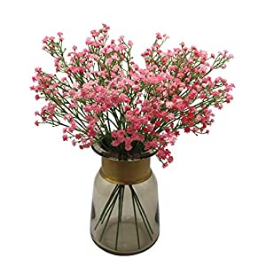 Anatural Artificial Flowers, Fake Flowers Babys Breath Gypsophila Flowers Steam Bouquet for Wedding Party Home Garden Table Centerpieces Decorations 10pcs 15.7 Inches (Pink) 66