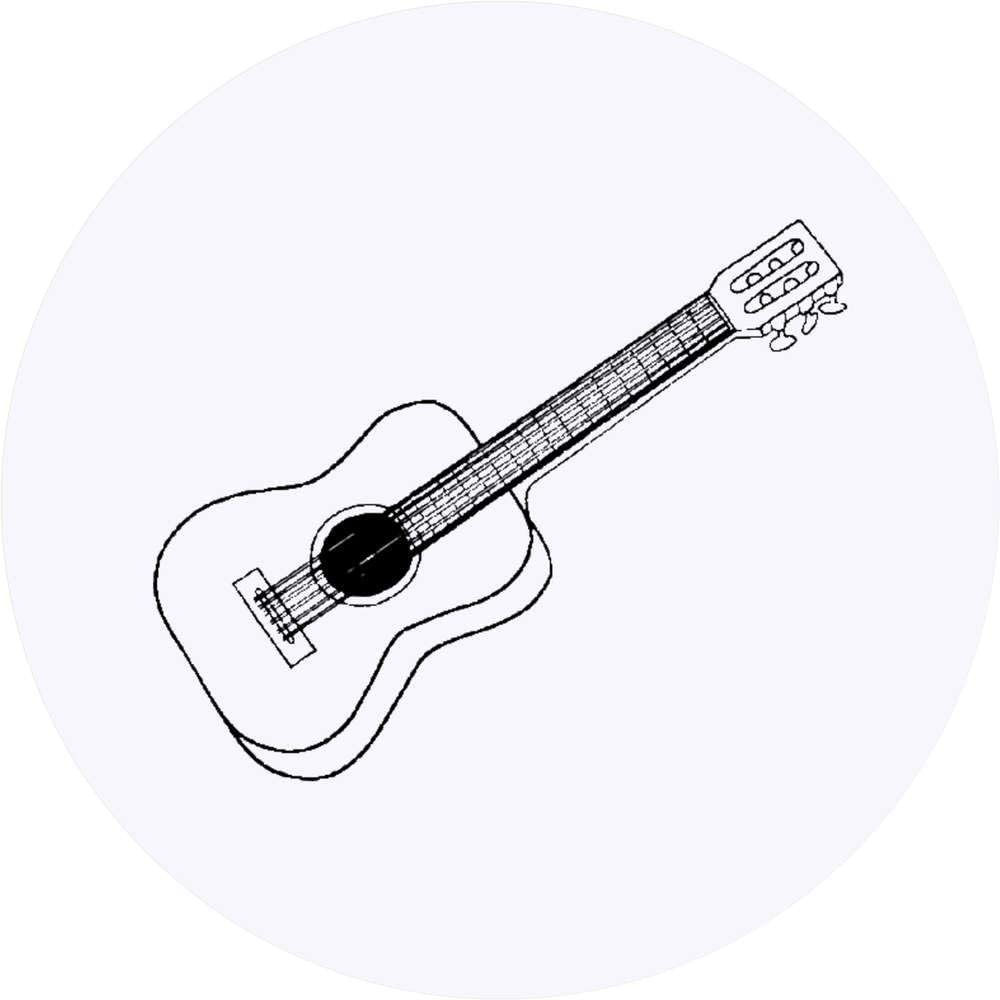 Azeeda 24 x 40mm Redondas Guitarra Clásica Pegatinas (SK00002670 ...