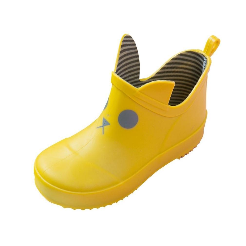 Kinder Wasserdichte Gummistiefel, MEIbax Cartoon Print Striped Gummiregen Wasserdichte Stiefel Regen Schuhe, Baby Gummistiefel Kinderschuh Jungen Mädchen Wasserdicht Schuhe
