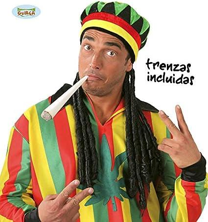 Guirca 13986 - Gorra Jamaicana con Trenzas: Amazon.es: Juguetes y ...