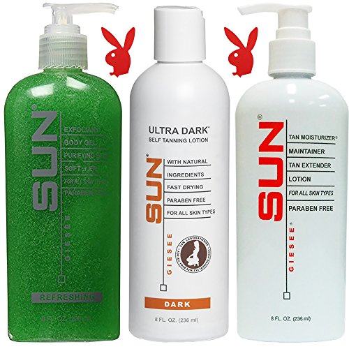 Self Tanner Lotion Ultra Dark 8oz Set- Natural Sunless Tanni