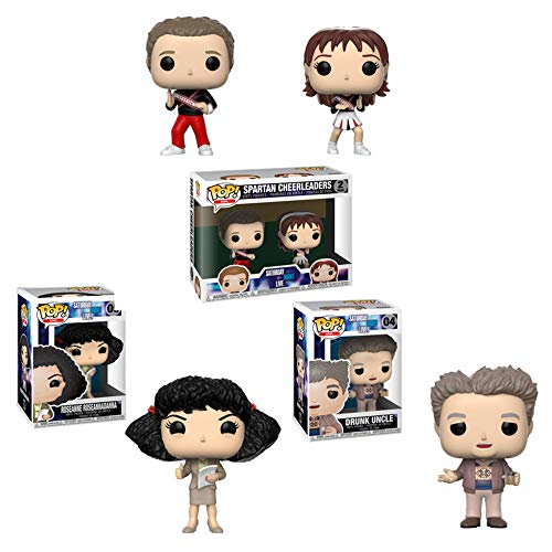 Funko Pop! Saturday Night Live Set of 4: Spartan Cheerleaders 2-Pack, Roseanne Roseannadanna and Drunk Uncle