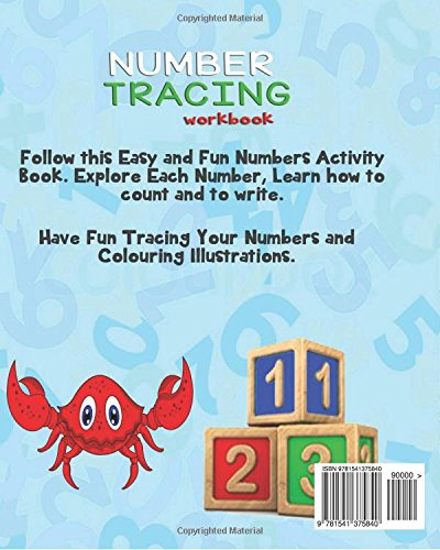 Children's Book: TRACE NUMBERS (Numbers Tracing Workbook for 3-5 ...
