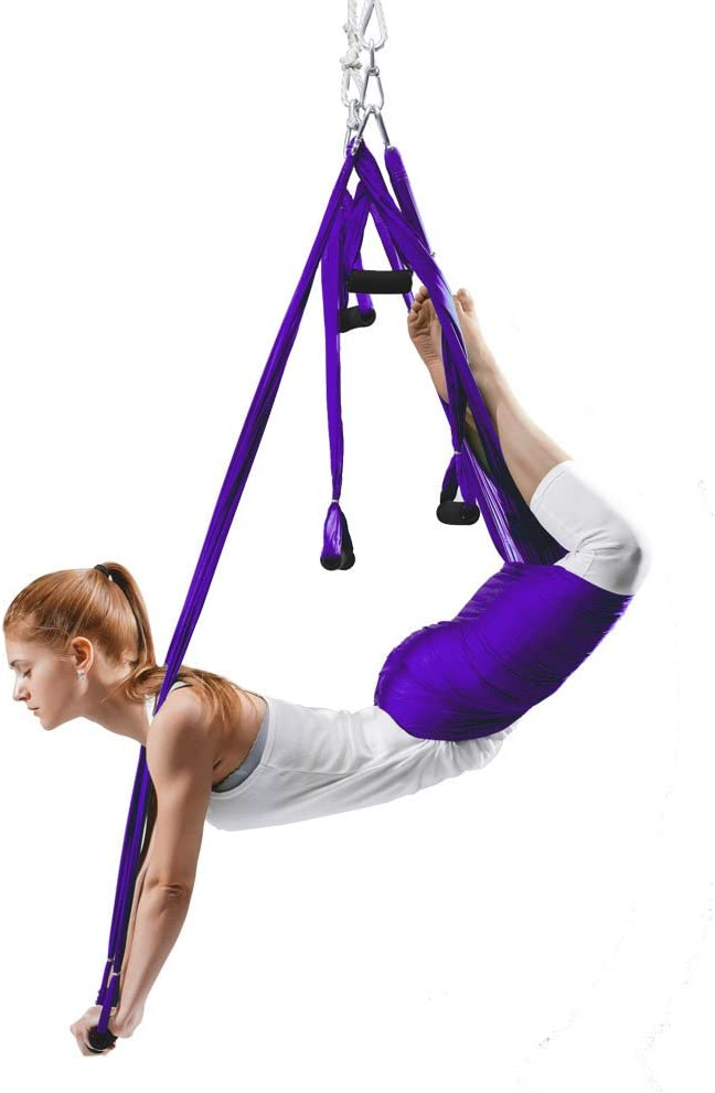 EUROSPORTS High Load Capacity Aerial Yoga Swing Inversion Hammock Sling for Flying Antigravity with a Carrying Bag