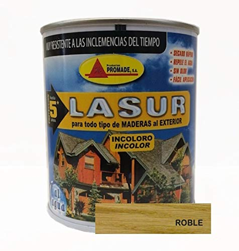 PROMADE - Lasur protector madera roble 750 ml.