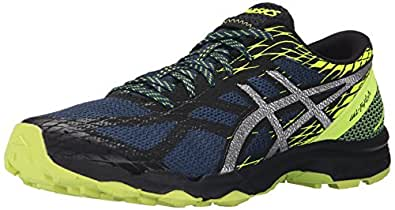 ASICS Men's GEL Fuji Lyte Running Shoe, Mediterranean/Silver/Flash Yellow, 6 M US