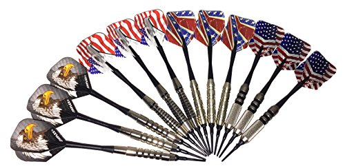 ungsten Coated 2ba Soft Tip USA Dart Sets (12 Darts Total) (Halex Soft Tip)