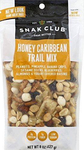 Snak Club Honey Caribbean Trail Mix, 8-Ounces, (Caribbean Club)