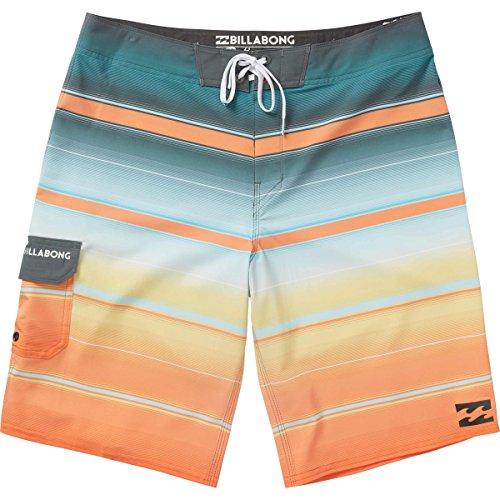 Billabong Men's All Day Stretch Boardshorts, Tangerine Stripe, 32 -