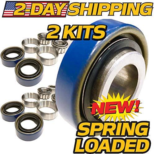 (2 Kits) Scag 482622, 43584 Front Wheel Bearing Rebuild Kit Turf Tiger - OEM Upgraded Seals ! - HD Switch ()