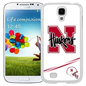 Fashionable And Unique Designed With Ncaa Big Ten Conference Football Nebraska Cornhuskers 10 Protective Cell Phone Hardshell Cover Case For Samsung Galaxy S4 I9500 i337 M919 i545 r970 l720 Phone Case White
