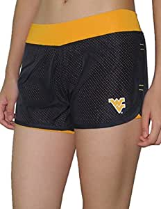 Womens WEST VIRGINIA MOUNTAINEERS Dri-Fit Mesh Athletic Shorts L Dark Blue