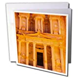 3dRose Danita Delimont - Travel - Treasury built by the Nabataens in 100 BC, Petra, Jordan - 12 Greeting Cards with envelopes (gc_276915_2)