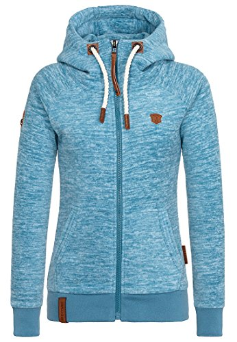 Naketano Female Zipped Hoody Gigi Meroni II Light Blue Melange, M
