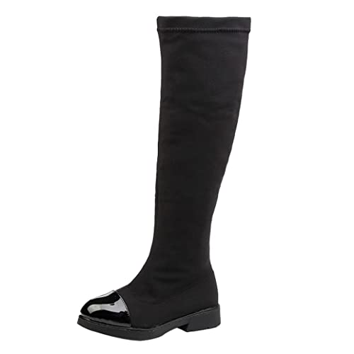 Voberry Toddler Kids Girls Winter Warm Knee High Snow Boots (5-5.5T,