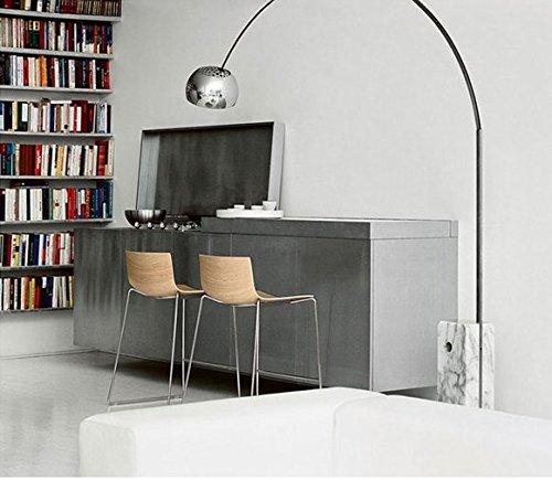 CU@EY Continental Edelstahl 1-Licht ,H232cm,schwarz Stehleuchte