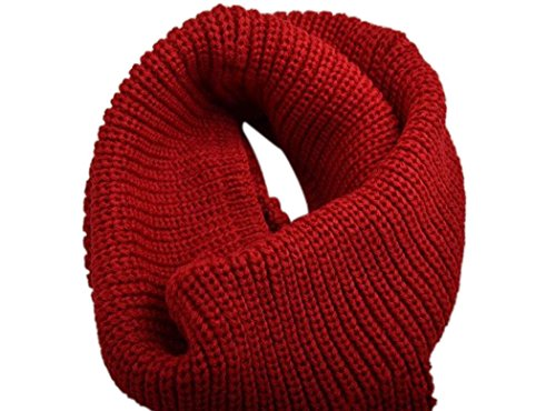 Veenajo Womens Sweater Warm Scarf Thick Ribbed Knit Winter Infinity Circle Loop Scarf