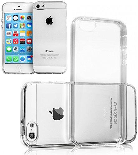 Movoja iPhone 5 5S SE TPU Hülle Schutzhülle Crystal Case Durchsichtig Klar Silikon transparent