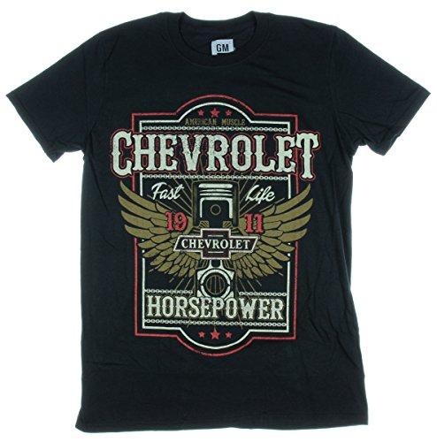 Chevrolet Horsepower Fast Life 1911 Licensed Graphic T-Shirt