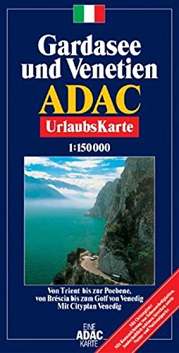 ADAC Karte Gardasee, Venetien und Friaul 1:200.000 mit Ortsregister
