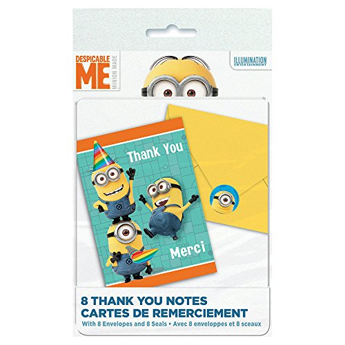 Despicable Me Minions Thank You Notes, 8ct